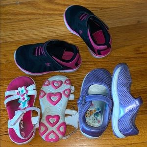 Lot of 3 Adorable Toddler Girl Shoes!